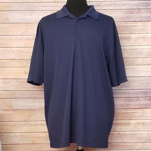 Nike Golf Drik Fit Blue Polo Shirt Athletic XXl 2X